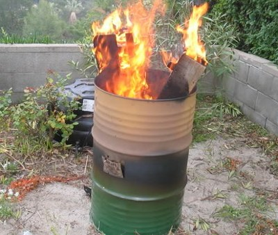 Бочка для сжигания мусора на даче своими руками видео