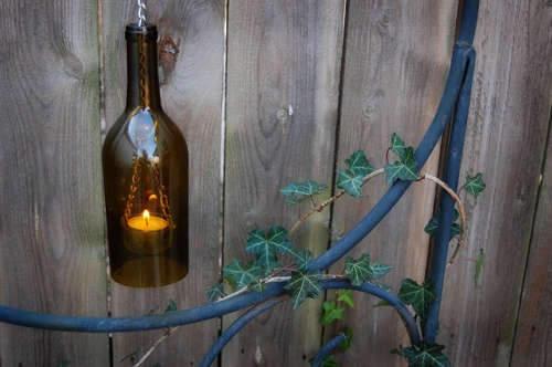 Как из бутылок сделать подсвечник своими руками