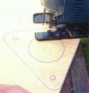 Изготовление треугольных площадок для светильника