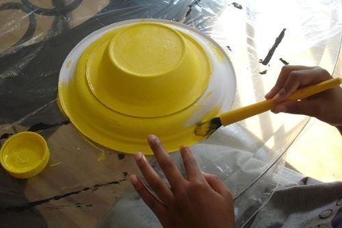 Окраска пластиковой шляпы